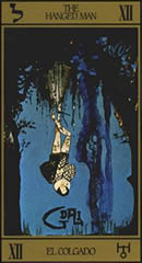 The Hanged Man card from Dalí's Tarot deck.